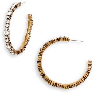 Stella + Ruby Crystal Hoop Earrings