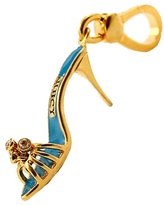 Juicy Couture Turquoise Blue Boudoir Slide Shoe Charm