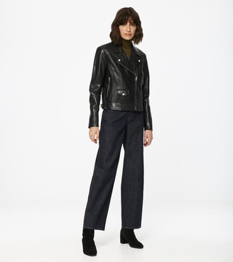 Andrew Marc Nysa Leather Moto Jacket
