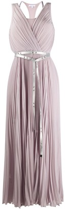 Patrizia Pepe Pleated Belted Dress
