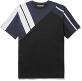 Neil Barrett - Panelled Bonded Cotton-jersey T-shirt