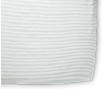 Stripes Away Crib Sheet - Sea - Pehr - sea/white