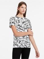 Calvin Klein Fitted Graffiti T-Shirt