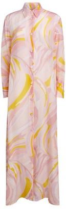 Emilio Pucci Patterned Maxi Shirt Dress