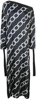Monse large chain print dress