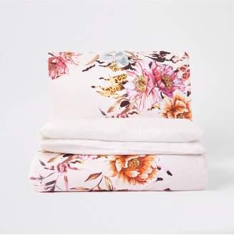 River Island Floral Print 100% Cotton Duvet Cover Set