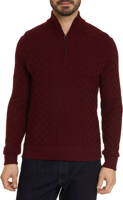 Robert Graham Men's The Vasa Soft Knit Quarter-Zip Sweater