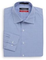 Saks Fifth Avenue Trim-Fit Mini Gingham Dress Shirt