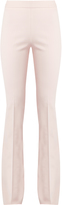Giambattista Valli High-rise flared cotton and silk-blend trousers