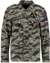 Replay Summer Jacket Green/brown/dark Grey