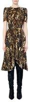 Isabel Marant Ulia Leopard-Print Velvet Midi Dress