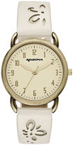 Arizona Womens White Strap Watch-Fmdarz151