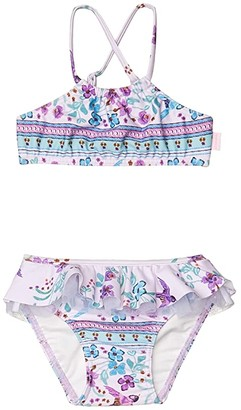 Seafolly Apron Tankini Set (Infant/Toddler/Little Kids) (Multi) Girl's Swimwear Sets