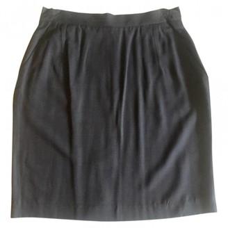 Prada Navy Silk Skirt for Women Vintage