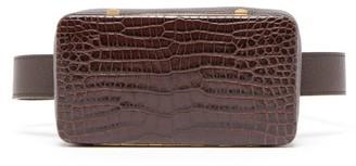 Lutz Morris Evan Crocodile-effect Leather Belt Bag - Brown