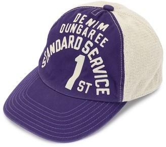 Denim Dungaree Logo Print Baseball Cap