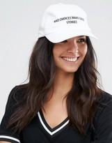 Asos Baseball Cap With Slogan