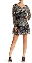 Gypsy 05 Gypsy05 Faux Leather Trim Silk Blend Dress