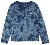 True Religion Boys' Tie Dye Henley Tee - Little Kid