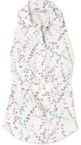 Max Mara Floral-print Cotton-poplin Top - White