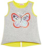 Design History Girls' Butterfly Tank - Sizes 2-6X