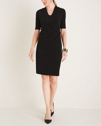Chico's Drape-Neck Dress