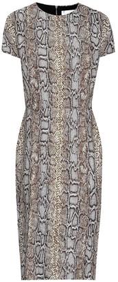 Victoria Beckham Snake-jacquard dress