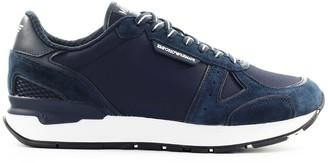 Emporio Armani Suede Mesh Navy Blue Sneaker