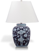 The Well Appointed House Sakura Porcelain Blue & White Ginger Lamp with Lucite Base