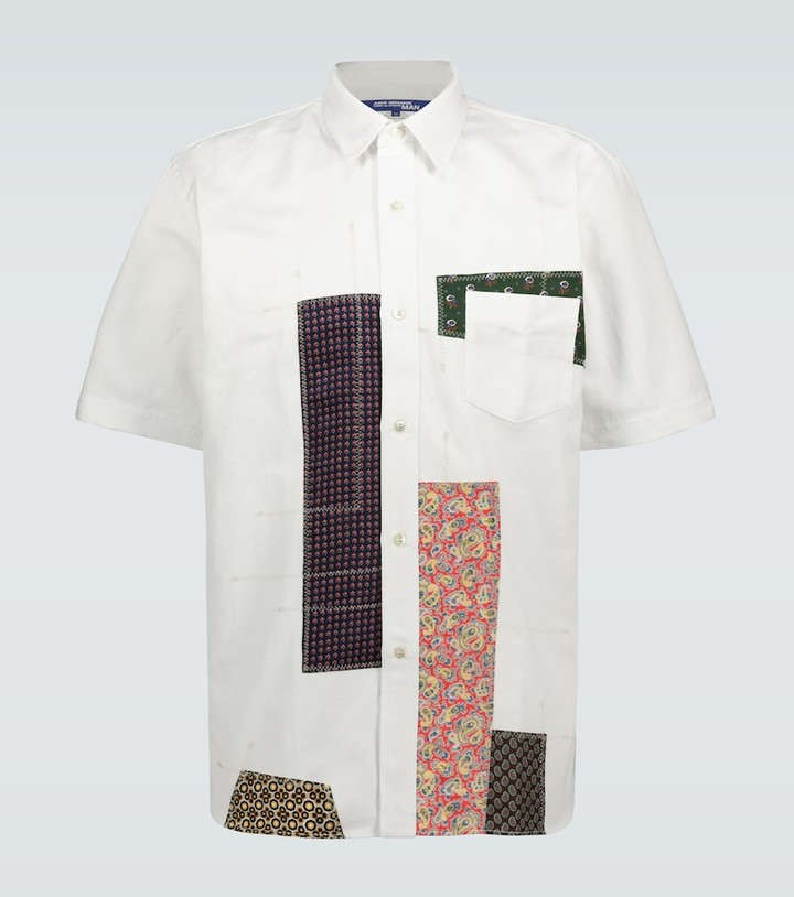 Junya Watanabe Patchwork short-sleeved shirt