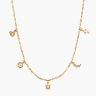 J.Crew Celestial charms necklace