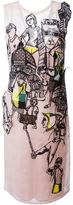 Emilio Pucci embroidered overlay shift dress