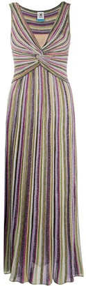 M Missoni Striped-Knit Maxi Dress