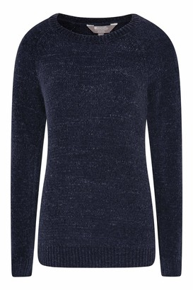Mountain Warehouse Oxford Chenille Womens Knit Top - Long Sleeve Blouse Lightweight Breathable Easy Care - Ideal for Travelling Walking