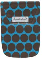 Diapees & Wipees Laminated Storage Bag with Wipes Case in Blue/Brown Polka Dot