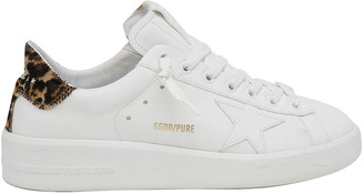 Golden Goose Pure Star Classic Leopard-Print Sneakers