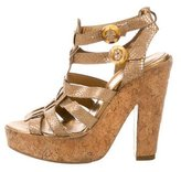 Barbara Bui Embossed Platform Sandals