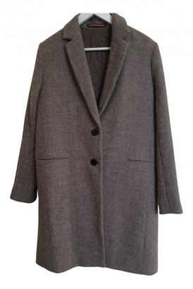 Comptoir des Cotonniers Beige Wool Coats