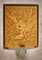 Fairy Mother & Child Curved Lithophane Night Light - David Delamare Art