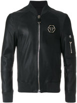 Philipp Plein branded bomber jacket