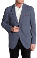 Kroon Bono Blue Check Two Button Notch Lapel Coat