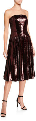 Dress the Population Ruby Sequin Bustier Midi Cocktail Dress