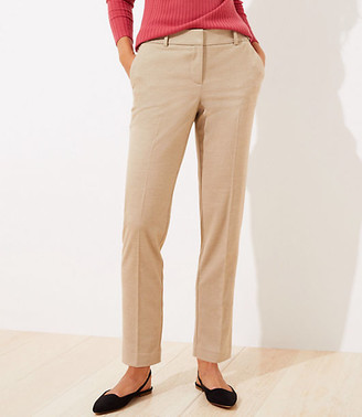 LOFT Brushed Flannel Slim Pencil Pants with Stretch Waist
