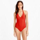 J.Crew Long torso halter one-piece swimsuit