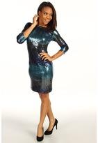 Karen Kane Reflection Multi Sequin Dress (Multi) - Apparel