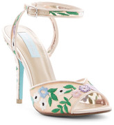 Betsey Johnson Dyan Embroidered Sandal
