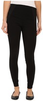 Hue High Waist Illusion Ponte Leggings Women's Casual Pants