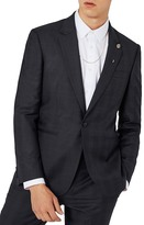 Topman Charlie Casely-Hayford x Skinny Fit Check Suit Jacket