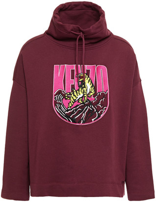 Kenzo Embroidered French Cotton-terry Sweatshirt