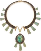 Tory Burch Oxidized Statement Collar Necklace